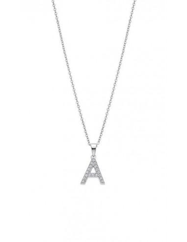 Collar letra A en plata de ley 925 y circonitas Lotus LP1958-1/A