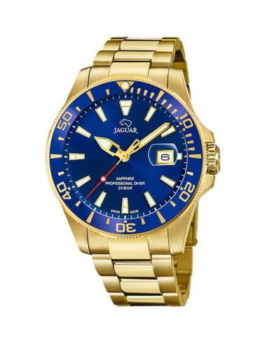Reloj cronógrafo de hombre Jaguar J877/1 dorado edición Executive con dial y bisel azul