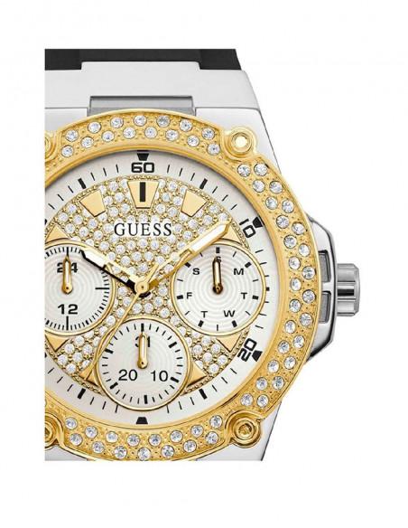 Reloj Guess Zena W1291L1 de mujer en acero bicolor plateado dorado vista ampliada zoom dial