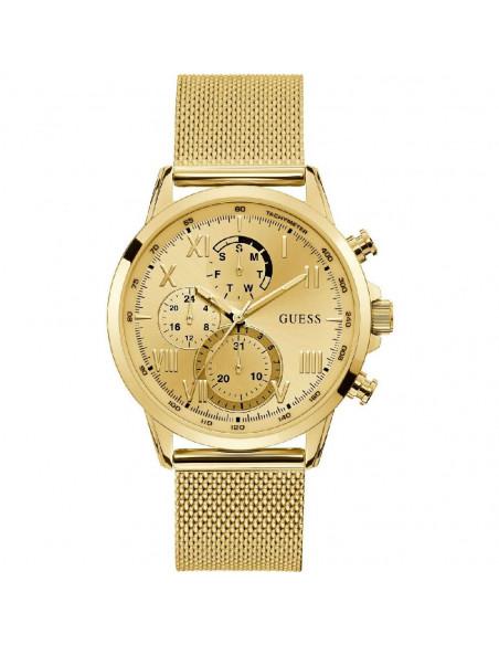 Reloj Guess Porter W1310G2 de hombre en acero dorado y dial champagne, Calendario, WR30