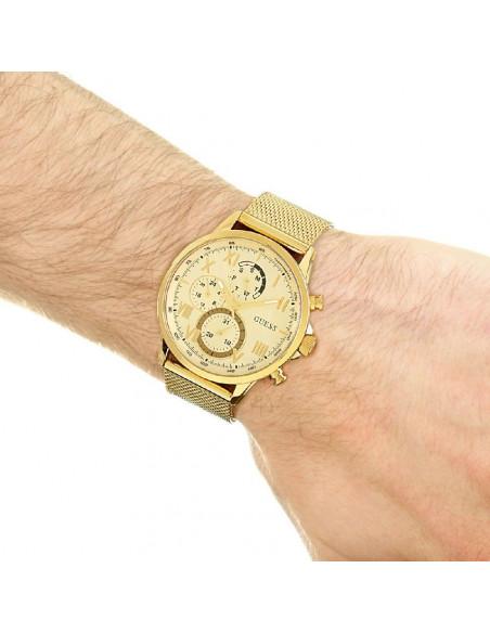 Reloj Guess Porter W1310G2 de hombre en acero dorado y dial champagne puesto