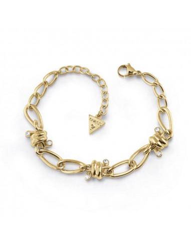 Pulsera Guess Love wire espino dorado UBB29022-S en acero
