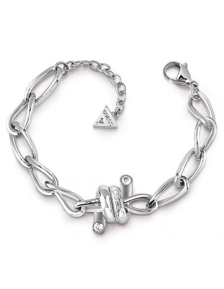 Pulsera Guess UBB29024-S Love wire espino plateado en acero con baño de rodio y cristales Swarovski