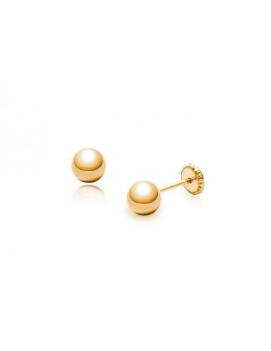 Pendientes en oro de 18k de 750 milésimas en forma de bola de 2 a 6mm, ¡corre que vuelan!
