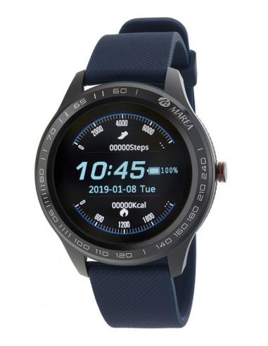 Reloj Marea Smart B60001/3 de hombre en negro con correa azul resistente al agua IP67