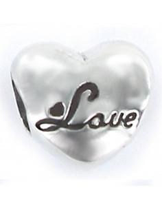 abalorio love en plata de primera ley 925