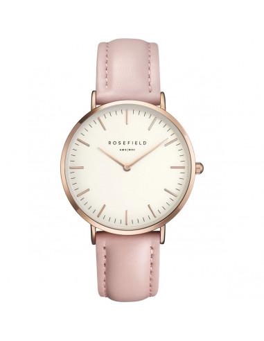 Reloj Rosefield The Bowery en rosado y correa en piel rosa BWPR-B7