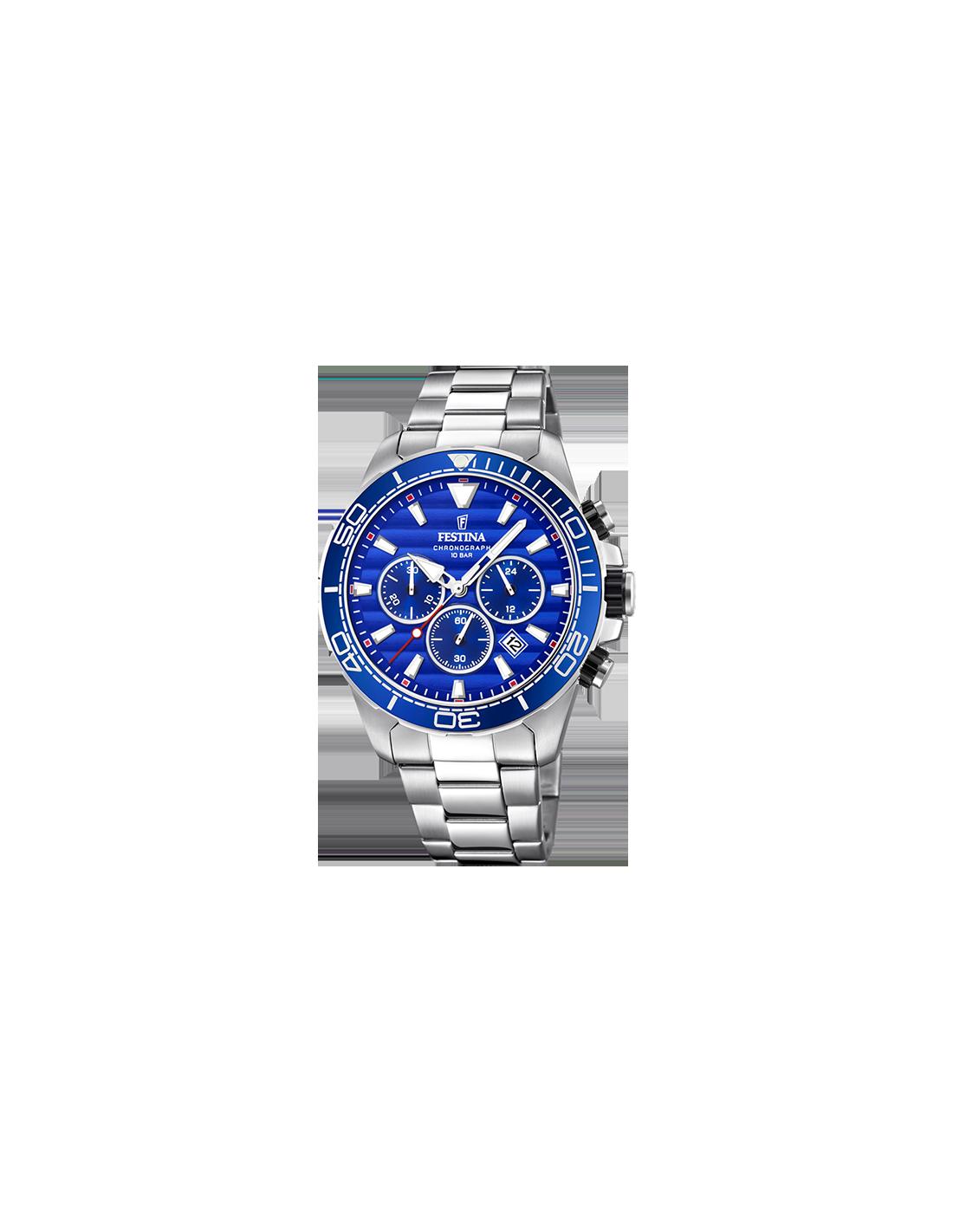 Reloj cronógrafo Festina F20361 2 de la colección Prestige en azul y  plateado e13431aeb80a