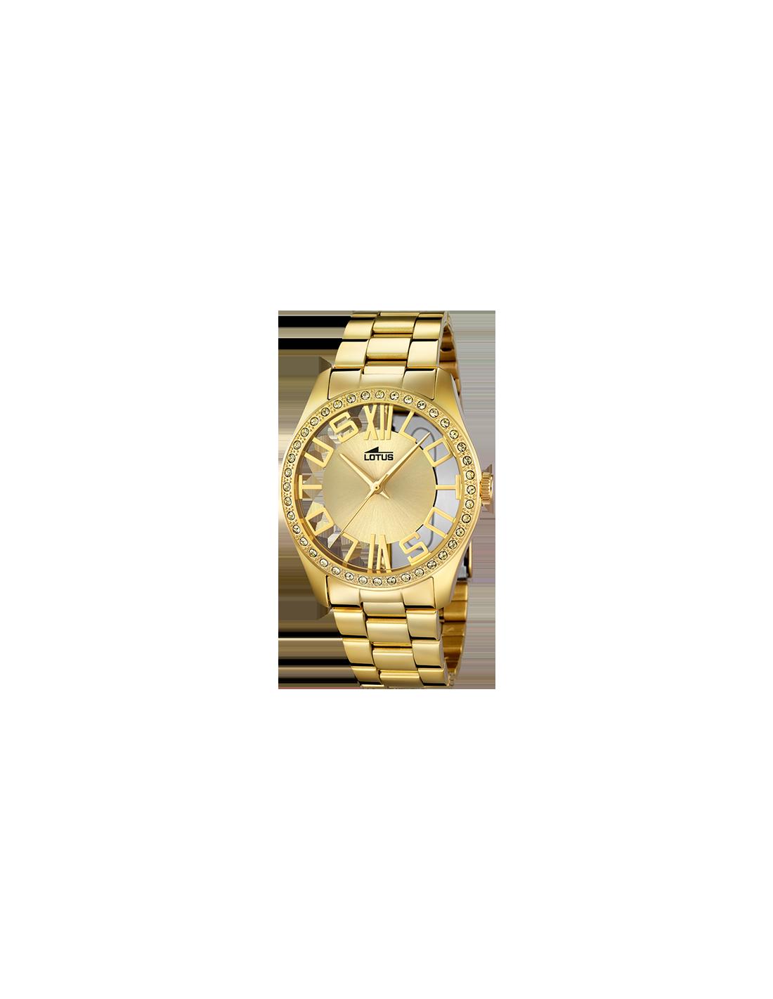0ae13e3a522a Reloj de mujer Lotus Trendy 18127 1 en color dorado y circonitas