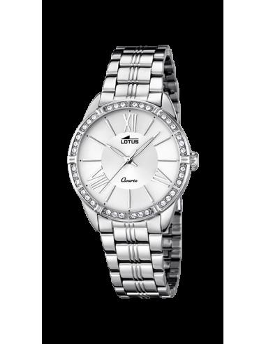 0cd97327e8b9 Reloj de mujer Lotus Trendy 18130 1 en plateado con dial plateado y  circonitas