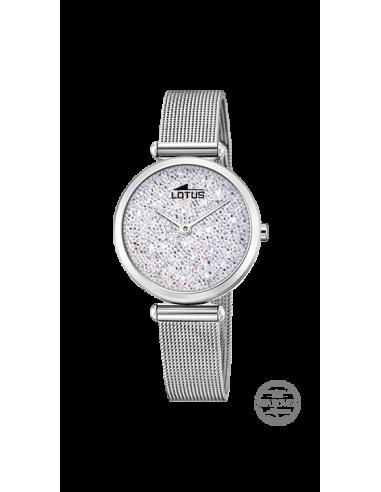 2c805b565d84 Reloj Lotus Bliss 18564 1 en plateado con cristales Swarovski y correa de  malla