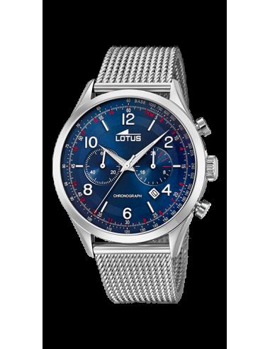 Reloj Lotus Smart casual 18555/3 plateado con dial azul y correa de malla