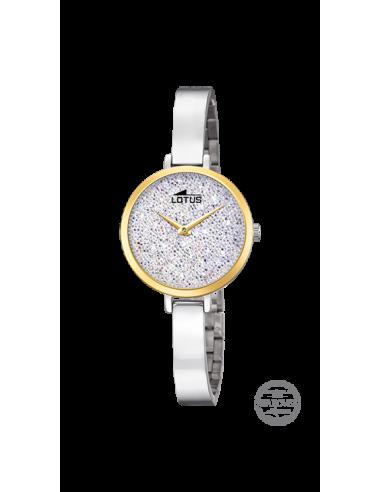 d3c3b69cabc7 Reloj de mujer Lotus Bliss 18562 1 con dial gris con cristales Swarovski y  bisel