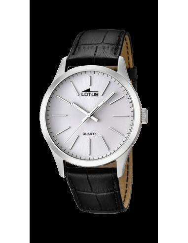 Reloj de hombre Lotus Minimalist 15961/1 plateado con dial blanco y correa de piel