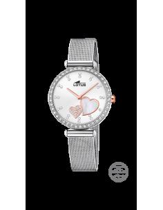 dd3fa257d0ff Reloj de mujer Lotus Bliss 18616 1 blanco con cristales Swarovski y bisel  con ciroconitas