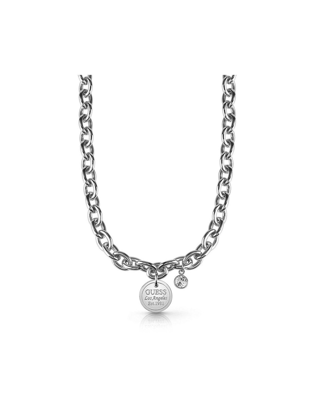 bcddb5b523d2 Collar de mujer Guess American Dream plateado y cristal Swarovski UBN28056