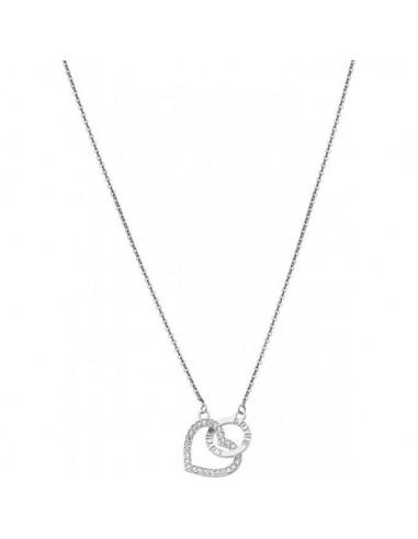 9fa06a0a5e67 Collar de plata Lotus corazón y circonitas LP1864-1 1 - Ses Nines