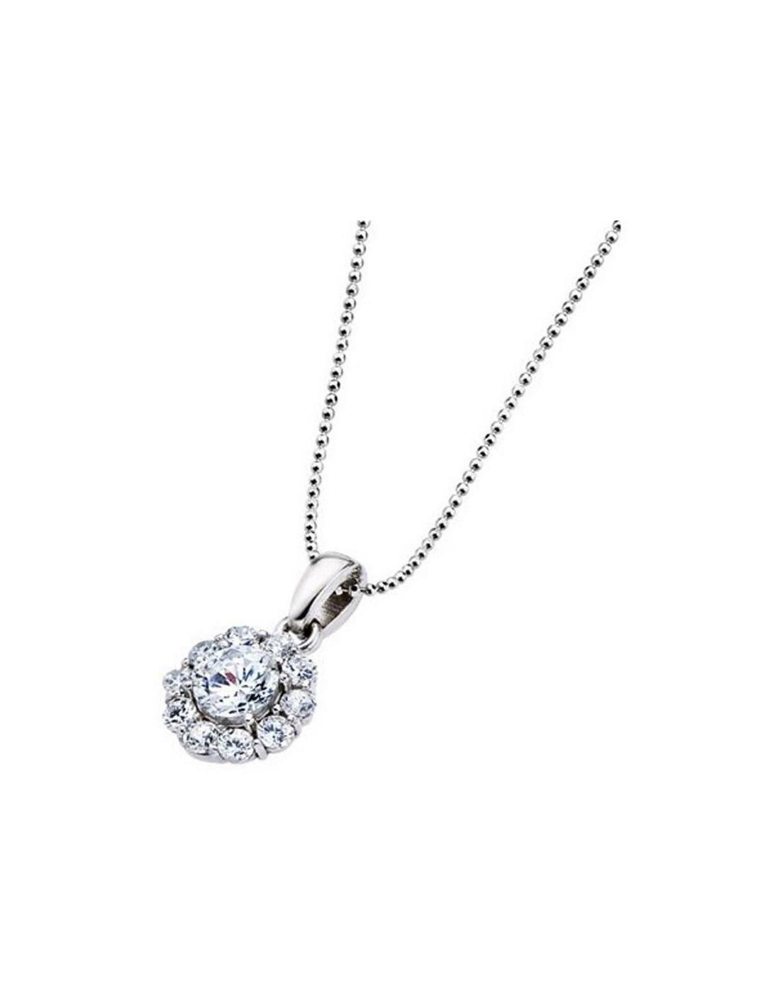 69b3c374101f Collar Lotus Silver Plata Mujer LP1290-1/1 redondo con circonitas