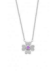 9e6e987f2a62 Collar de plata con trébol de la suerte y circonitas Lotus LP1944-1 1