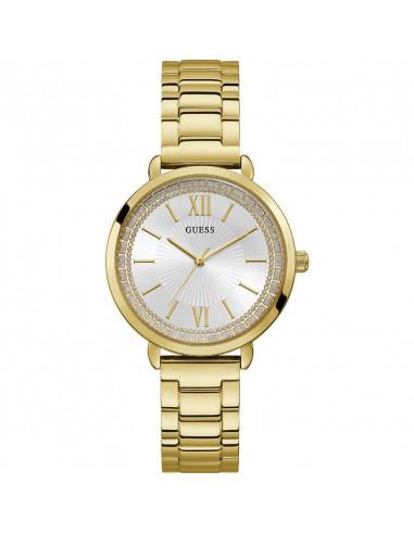 Reloj para mujer Guess W1231L2 fabricado IP dorado de la colección 2019 Posh, de cuarzo, cristal mineral, armis dorado. WR30.