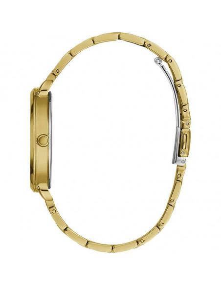 Vista lateral del reloj Guess Posh W1231L2 dorado