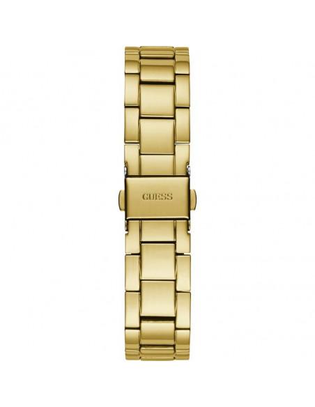 Vista trasera del reloj Guess Posh W1231L2 dorado