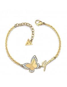 c5671cf0b16d Pulsera para mujer Guess UBB78050-S dorada de la colección Love butterfly  con mariposa