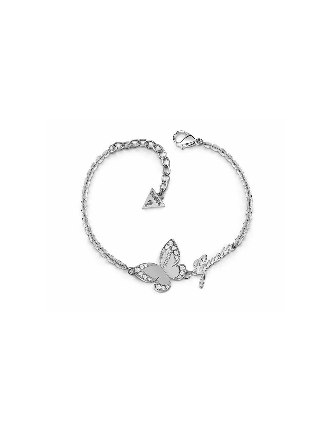 52866161f19c Pulsera Guess Love butterfly mariposa plateada UBB78049-S - Ses Nines
