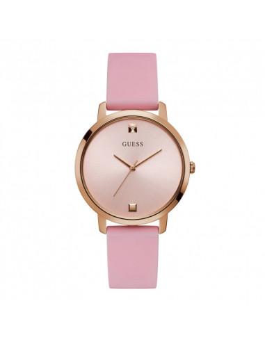 Reloj para mujer Guess Nova W1210L3, 40mm, mecanismo de cuarzo en rosado con dial rosa, diamante y correa de silicona rosa.WR30