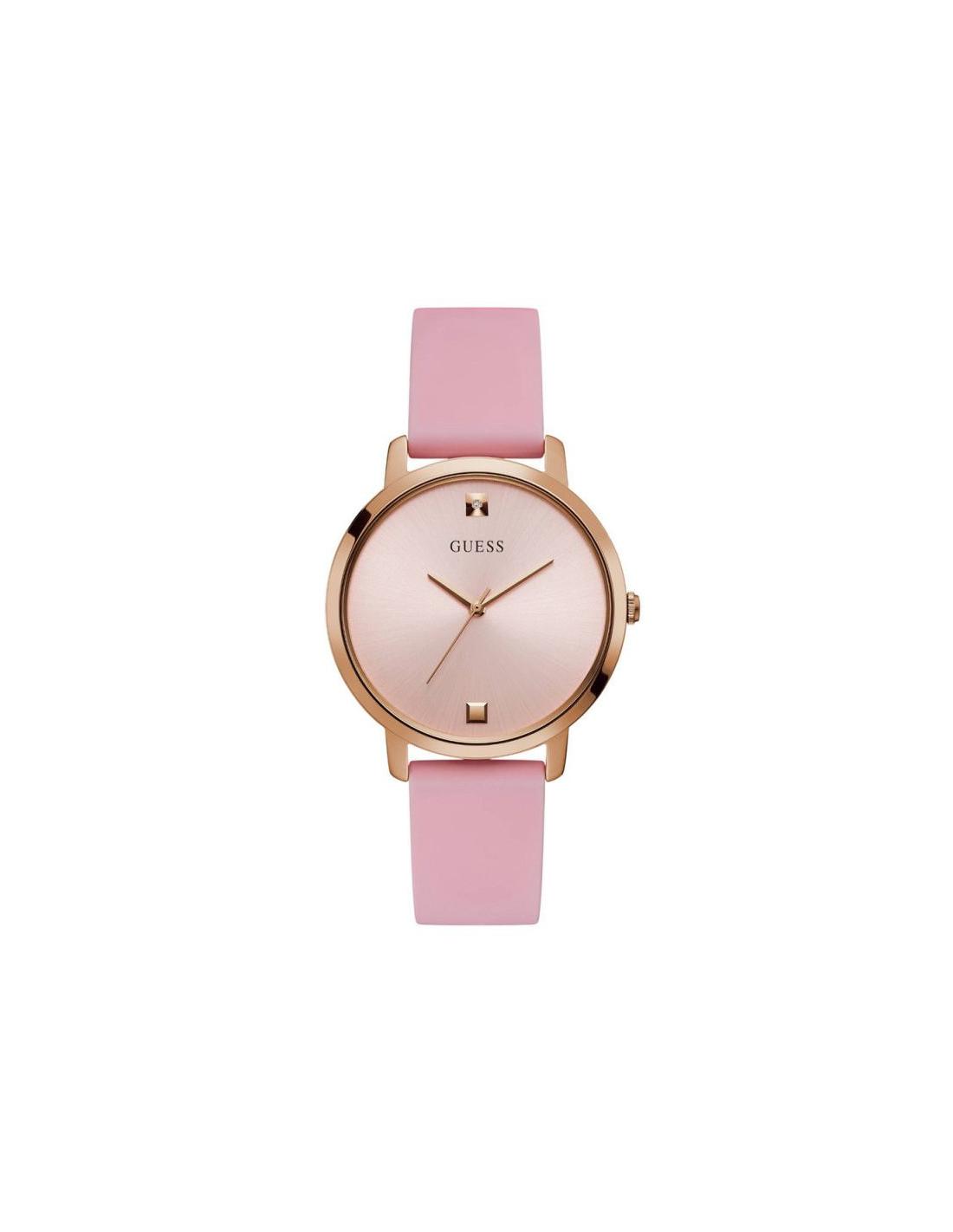 Reloj Nova Con Correa Rosa W1210l3 Diamante De Guess Y Silicona Rosado ED29YWHI