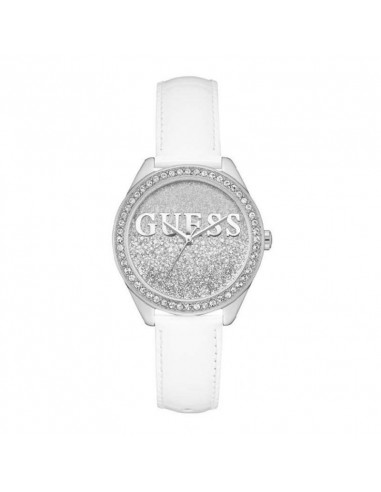 11cd495c9dd2 Reloj Guess Glitter Girl W0823L1 plateado con Swarovski® y piel blanca