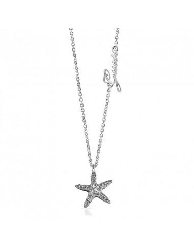8842e5c4de9d Collar Guess Starfish UBN78008 en acero con colgante estrella de mar  plateada y cristales Swarovski®