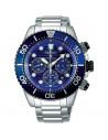 Reloj de hombre Seiko Prospex SSC675P1 Divers Solar, cronógrafo con dial azul metalizado y cristal Hardlex. WR200