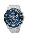 Reloj de hombre Seiko SPC235P1 Lord, de cuarzo con cronógrafo y dial azul metalizado. Cristal Hardlex. WR100