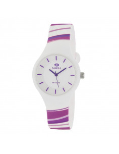 fdd22111c Reloj Marea B35325/34 para mujer Sunrise en blanco con líneas en tonos  morados y