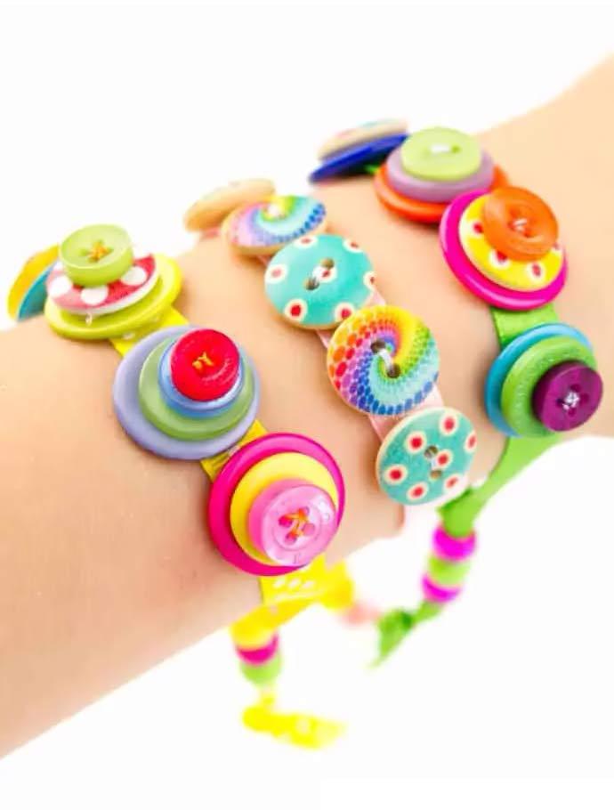 pulsera joyeria para hacer con niños botones