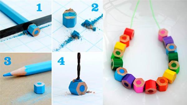 pulsera de lapices de colores para niños