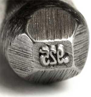 punzón para marcar plata de primera ley 925